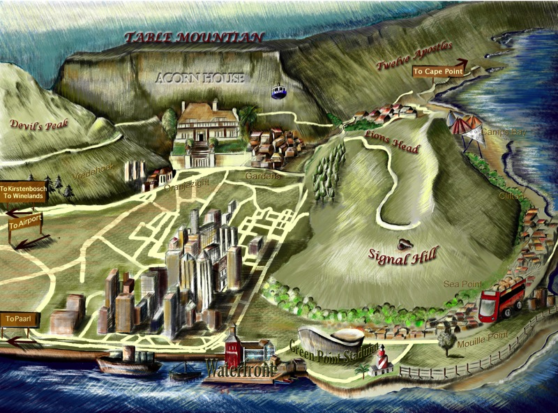 alternative map of Acorn House Cape Town